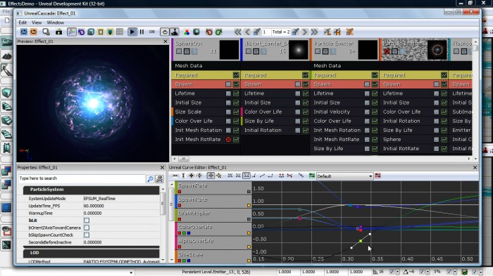 UDK Effects Editor example