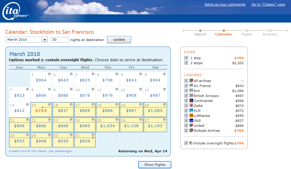 Ita Matrix 2 Is Great For Finding Flights